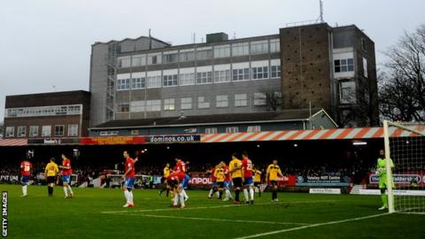 Aldershot Town Relegated Club Goes Into Administration Bbc Sport