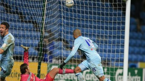 Leon Clarke nets Coventry's JPT northern semi-final winner against Preston