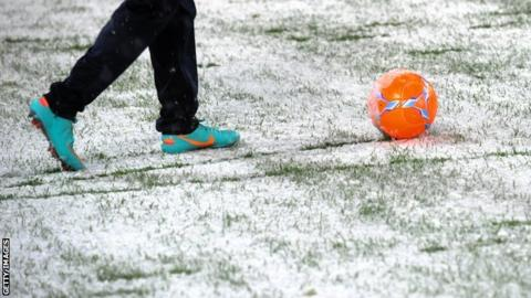 Snow hits sporting calendar