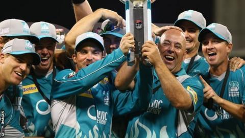 Brisbane Heat celebrate
