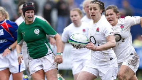 Katy McLean in action against Ireland in the 2012 Six Nations