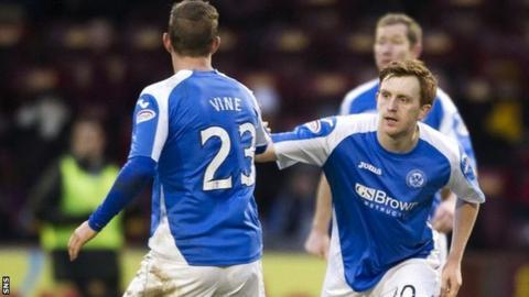 Liam Craig celebrates scoring St Johnstone's second goal