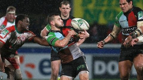 Danny Care in Heineken Cup action for Harlequins
