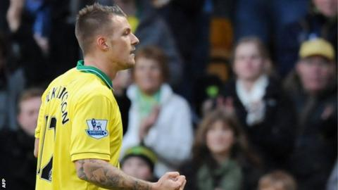Norwich City winger Anthony Pilkington
