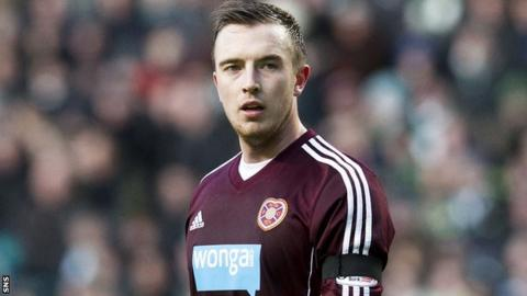 Danny Wilson made his Hearts debut on Saturday