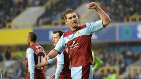 Burnley striker Sam Vokes