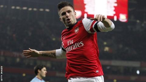 Arsenal's Olivier Giroud