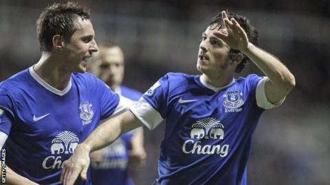 Everton full-back Leighton Baines