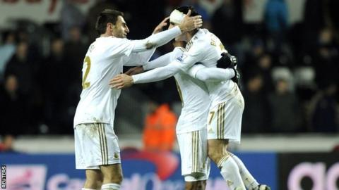 Swansea reach League Cup final