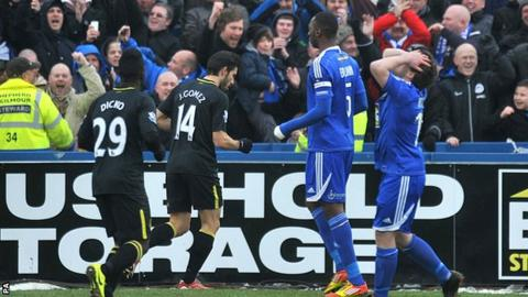 Jordi Gomez after scoring for Wigan