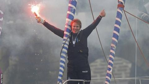 Francois Gabart wins the Vendee Globe