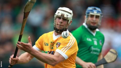 Neil McManus in action for Antrim