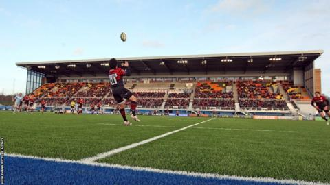 Saracens hosted Cardiff Blues in the LV= Cup at their new Allianz Park home and the first professional rugby union match to be played on an artificial pitch designed for the sport.
