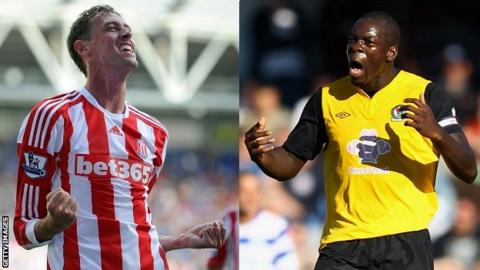 Peter Crouch and Chris Samba