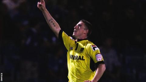 Tranmere Rovers striker Cole Stockton
