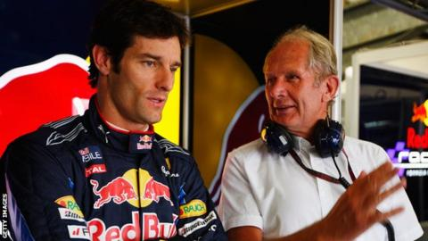 Mark Webber and Helmut Marko