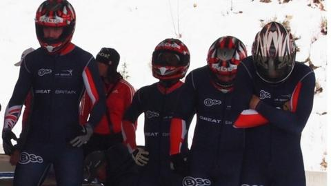 GB bobsleigh team including Golder