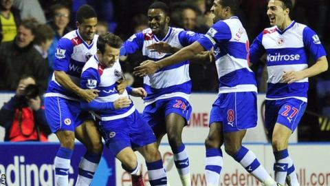 Reading celebrate Adam Le Fondre's equaliser