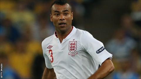 England defender Ashley Cole