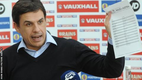 Chris Coleman announcing his Wales squad ahead of the Austria friendly
