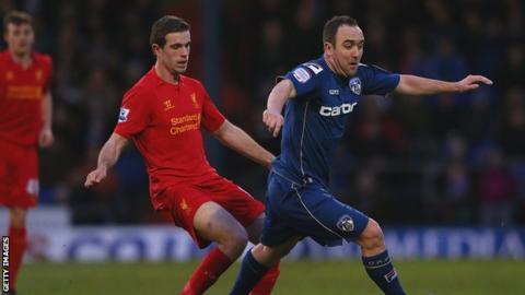 Oldham midfielder Lee Croft
