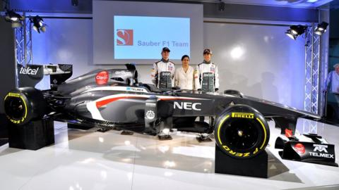 The new Ferrari-powered Sauber C32 was revealed at the team's Hinwil base
