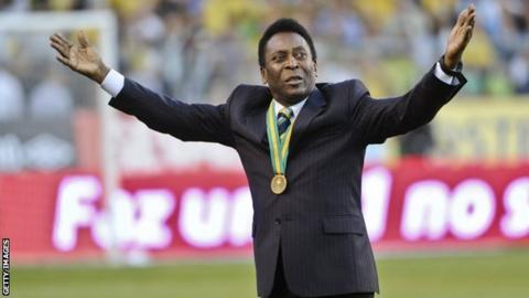 Brazilian football legend Pele