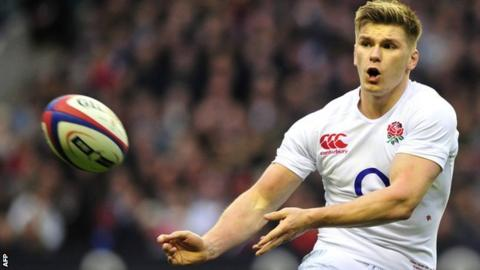 England fly-half Own Farrell was man of the match
