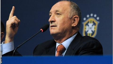 Brazil coach Luiz Felipe Scolari