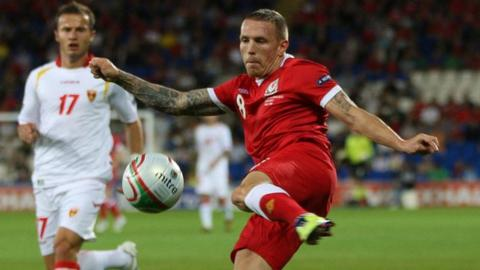 Craig Bellamy in action for Wales