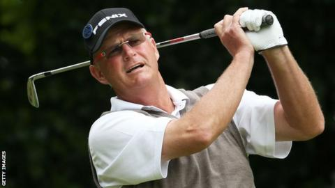 Scottish golfer Sandy Lyle