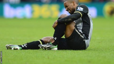 Tottenham striker Jermain Defoe was injured in the win at West Brom