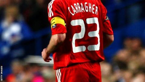 Jamie Carragher's shirt