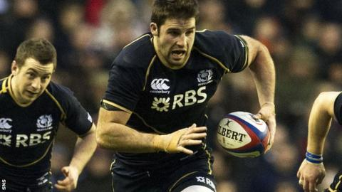 Johnnie Beattie played in Scotland's 38-18 loss to England