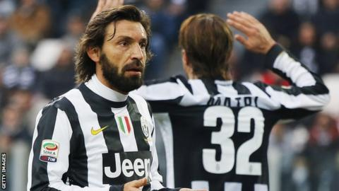 Andrea Pirlo is the playmaker-in-chief for Juventus