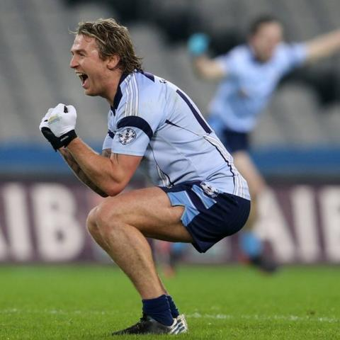 Owen Mulligan celebrates after Cookstown's 1-9 to 0-6 win over Kerry side Finuge in the final of the All-Ireland Intermediate Club Championship