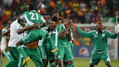 Nigeria players celebrate