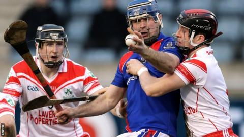 Loughgiel in All-Ireland semi-final action