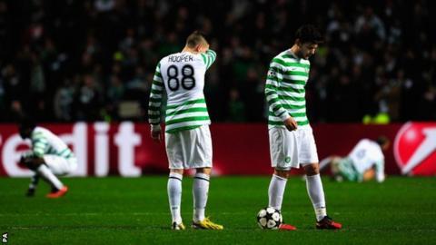 Celtic strikers Gary Hooper and Tony Watt