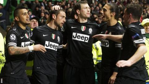Juventus were 3-0 winners at Celtic Park