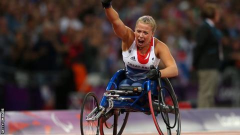 Double Paralympic gold medallist Hannah Cockroft