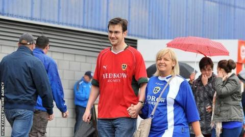 Cardiff City supporters
