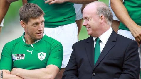Declan Kidney with Ronan O'Gara