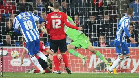 Andrea Orlandi scored for Brighton against Cardiff City.