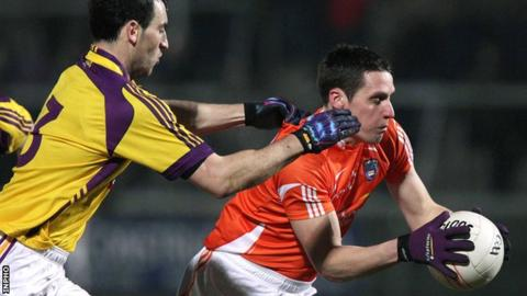 Armagh's Gavin McParland in action against Wexford