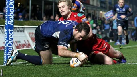Andrew Goodman scores Leinster's opening try