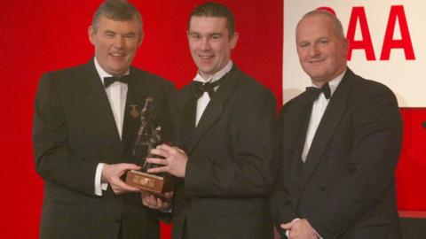 Oisin McConville received the second of his two All Star awards in 2002