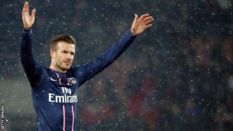 Paris St-Germain's David Beckham