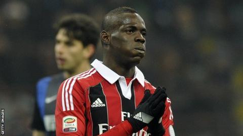 Milan striker Mario Balotelli