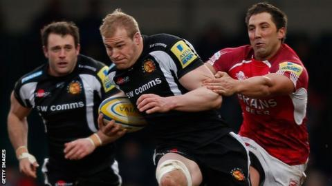 Damian Welch got his first Exeter try against London Welsh
